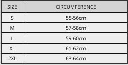 Duchinni sizing chart