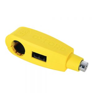 Oxford Security Motorcycle Brake Lever Lock Yellow