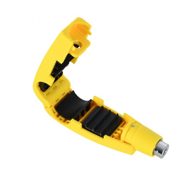 Oxford Leaver Motorcycle Lock Yellow
