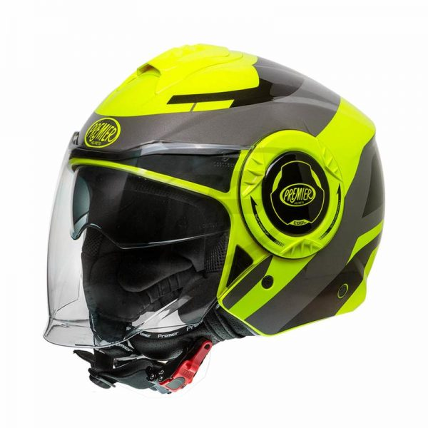 Premier Cool Opt Fluo Open Face Helmet