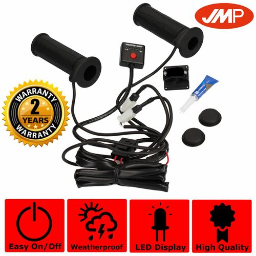 JMP 5 Level Control 22mm Open Ended Heated Grips