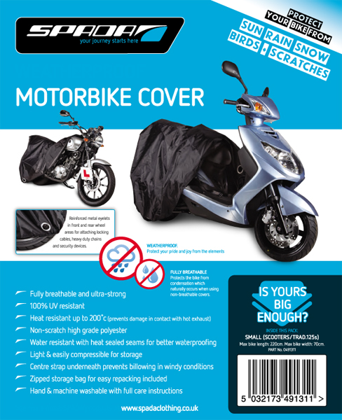 Spada Motorcycle Cover Small Black